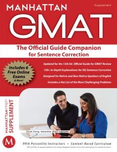 GMAT test prep book official guide companion for sentece correction