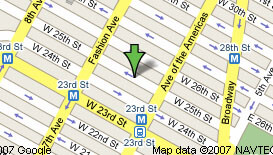 Map to Manhattan GMAT Center in New York
