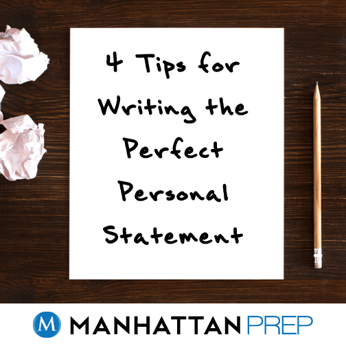 Writing the perfect personal statement